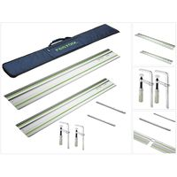 Festool Führungsschiene Set mit FS 1400/2 + FS 800/2 + 2x Verbindungsstück + FS-Bag + 2x Schraubzwinge