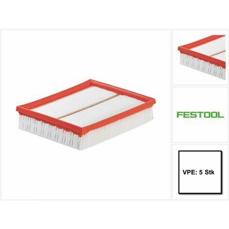 Festool HF-CT MINI/MIDI Filtres principal pour aspirateur CLEANTEC - 5 pièces ( 5x 456790 )