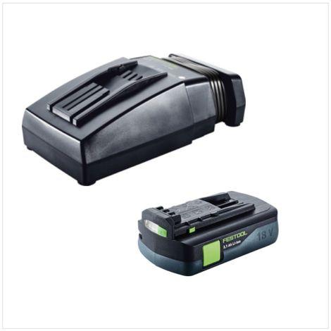 Festool HKC 55 Li EB Basic Scie circulaire sans fil avec boîtier Systainer + 1x Batterie BP 18 Li 3,1 C + Chargeur rapide TCL 6