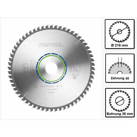 Festool HW 216 x 30 x 2,3 mm W60 Lame de scie circulaire spéciale ( 491051 ) 216 mm - 60 dents