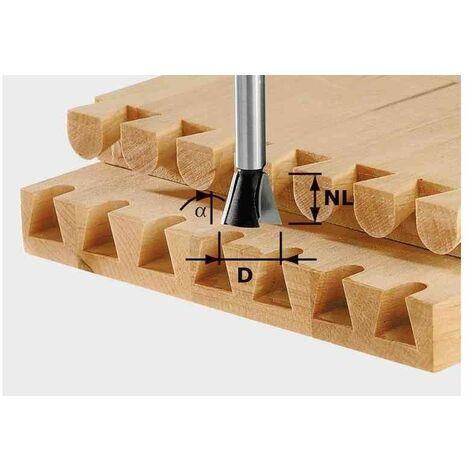 Festool HW S8 D14,3/16/10° - Fresa de cola de milano / dientes HW, vástago 8 mm