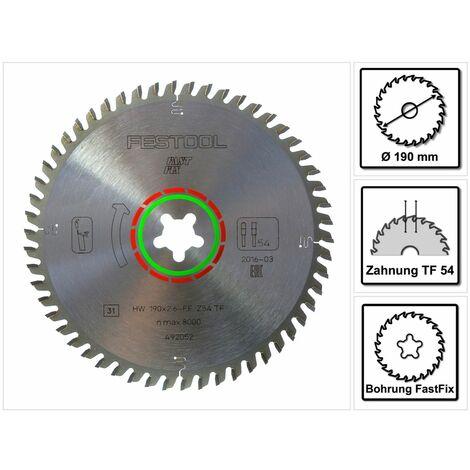 Festool Lame de scie circulaire spéciale HW 190x2,6 FF Fast Fix TF54 190 mm 54 dents ( 492052 )