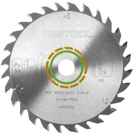 FESTOOL Lame de scie circulaire universelle (Ø 160 mm - 2.20 mm - 20 - 28 dents - +15° - 496302)