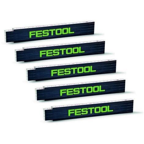 """main image of """"Festool Meterstab MS 2m Maßstab Zollstock Gliedermaßstab Meter 201464 5 Stück"""""""