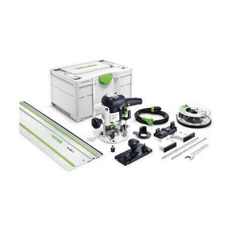 Festool OF 1010 EBQ-Set+Box-OF-S - Set défonceuse - incl. rail de guidage - dans systainer - 1010W - 55mm