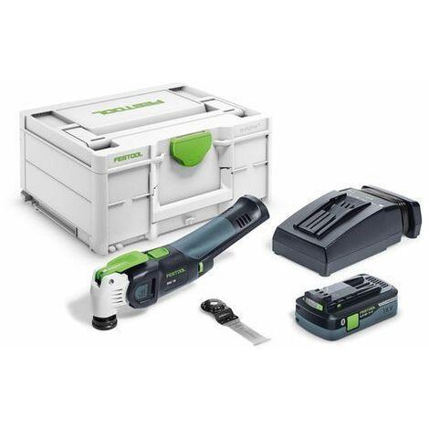 Festool Outil oscillant OSC 18 HPC 4,0 EI-Plus VECTURO + batterie + chargeur rapide TCL 6 - 576595