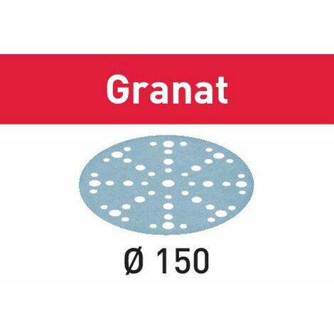 FESTOOL Pack 50 ou 100 abrasifs Granat STF D150/48