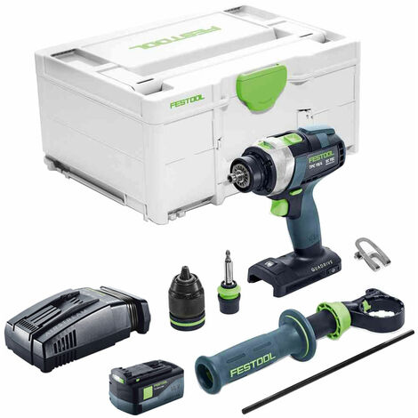 Festool PDC 18/4 18V Combi Drill With 1 x 5.2As Battery & SCA Charger in Systainer Case