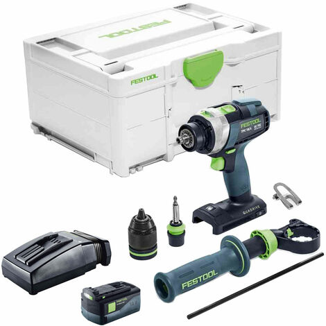 Festool PDC 18/4 18V Combi Drill With 1 x 5.2As Battery & TCL Charger in Systainer Case