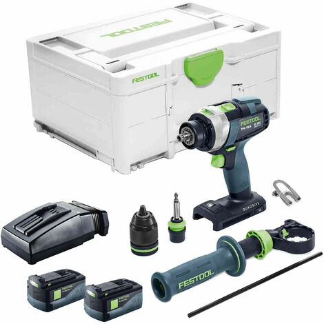 Festool PDC 18/4 18V Combi Drill with 2 x 5.2Ah Batteries & TCL Charger in Systainer Case
