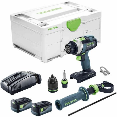 Festool PDC 18/4 18V Combi Drill With 2 x 5.2As Batteries & SCA Charger in Systainer Case