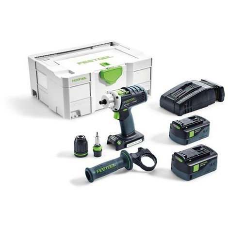 Festool Perceuse-visseuse sans fil DRC 18/4 Li 5,2-Plus-SCA QUADRIVE - 574916