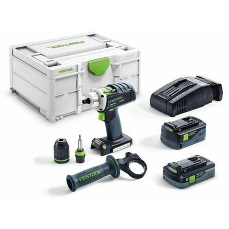 Festool Perceuse-visseuse sans fil QUADRIVE DRC 18/4 5,2/4,0 I-Plus-SCA