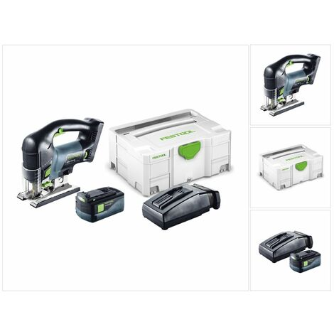 Festool PSBC 420 EB LI Plus Scie sauteuse CARVEX avec boîtier Systainer inclus 1x Batterie BP & chargeur TCL 6 ( 201380 )