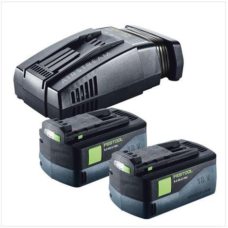 Festool PSBC 420 Li 5,2 EB-Basic CARVEX Scie sauteuse sans fil + Boîtier Systainer + 2x Batteries BP 18 Li 5,2 AS 18V 5,2 Ah + Chargeur SCA 8 Li-Ion