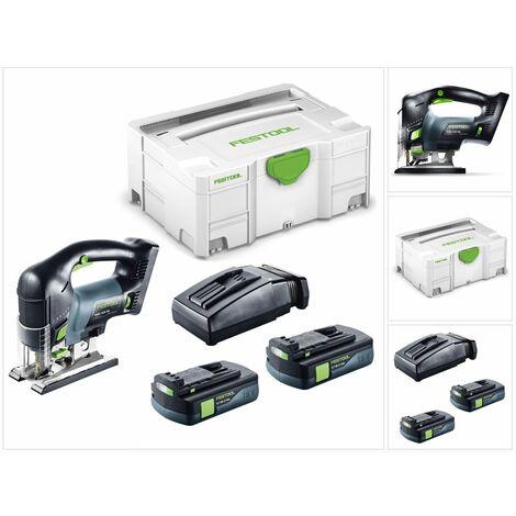 """main image of """"Festool PSBC 420 Li EB Basic Scie sauteuse sans fil avec boîtier Systainer + 2x Batteries BP 18 Li 3,1 Ah + Chargeur rapide TCL 6 Li-Ion"""""""