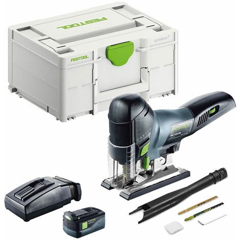 Festool PSC 420 18V Carvex Pendulum Jigsaw with 1 x 5.2Ah Battery & TLC Rapid Charger in SYS-2