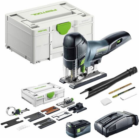 Festool PSC 420 Li 5,2 EB-Plus 18V Pendulum Jigsaw With 1 x 5.2Ah Battery SCA Charger & Accessories Kit in SYS-2