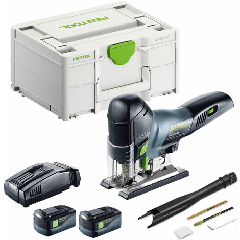 Festool PSC 420 Li 5,2 EB-Plus 18V Pendulum Jigsaw With 2 x 5.2Ah Batteries & SCA Charger in SYS-2