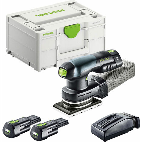 Festool RTSC 400 18V 80 x 130mm Orbital Sander with 2 x 3.1Ah Battery & TCL Charger in SYS-2 575725