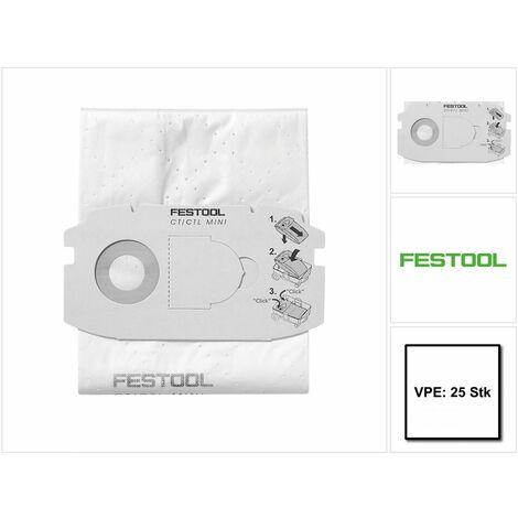 Festool SC-FIS-CT MIDI/25 Sacs filtre CLEANTEC - 25 pièces ( 5x 498411 )