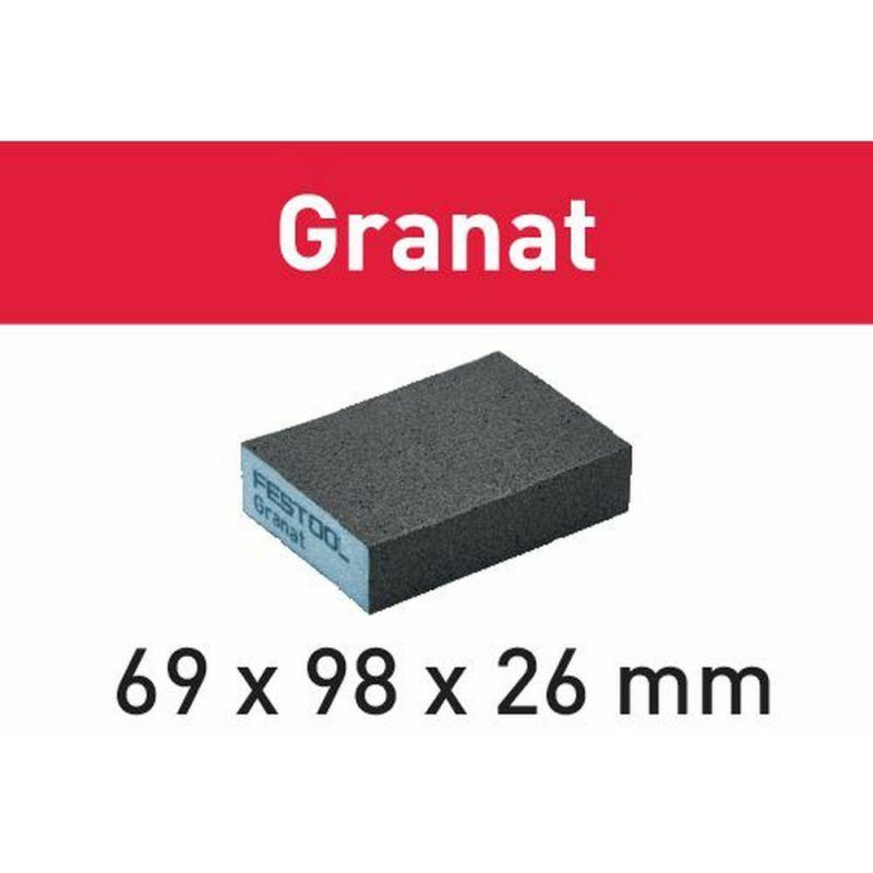 FESTOOL Schleifschwamm Granat 98 x 120 x 13 mm Korn 800 6 St/ück,201507