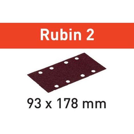 Festool Schleifstreifen STF 93X178/8 P180 RU2/50 Rubin 2 – 499067