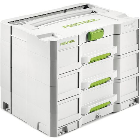 FESTOOL Schubladen Systainer SYS 4 TL SORT/3 Schubladen 396 x 296 x 322 mm