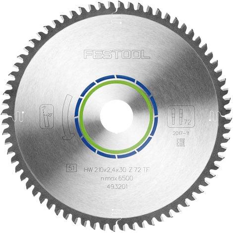 Festool Special Plunge Saw Blade 210mm x 30mm 72T TF72 493201
