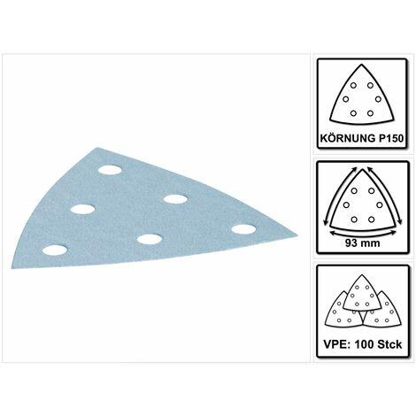Festool STF V 93/6 Hoja de lijar P150 GR/100 Granat - 100 piezas ( 497395 )