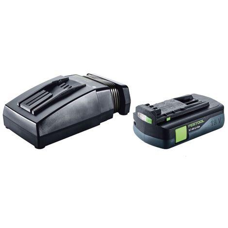 Festool Sysrock BR 10 DAB+ 10,8 - 18 V Li-Ion SYSROCK Radio de chantier + 1x Batterie 3,1 Ah + Chargeur