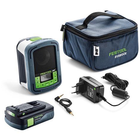 Festool Sysrock BR 10 DAB+ Radio digital ( 202111 ) + 1x Batería BP 18 Li 3,1 C - Sin cargador incluido