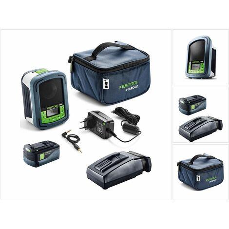Festool Sysrock BR 10 DAB+ SYSROCK Radio de chantier + 1x Batterie 5,2 Ah + Chargeur