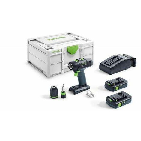 Festool T 18+3 C 3,1-Plus 18V Taladro atornillador a batería