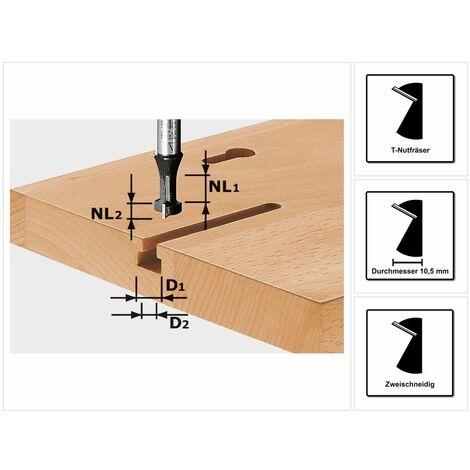 Festool T-Nutfräser HW S8 D10,5/NL13 10,5 x 13 mm 8 mm Schaft ( 491035 )