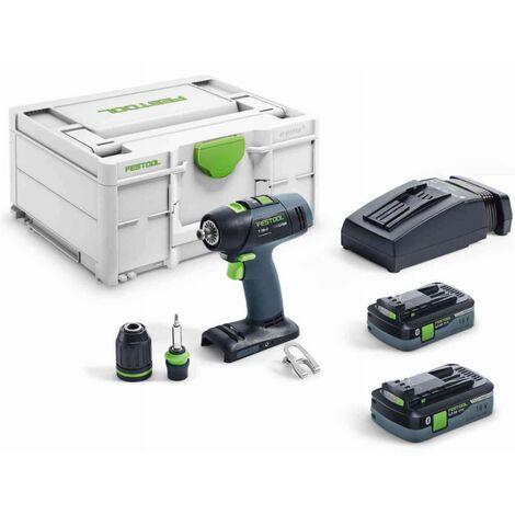 Festool Trapano avvitatore a batteria T 18+3 HPC 4,0 I-Plus - 576446