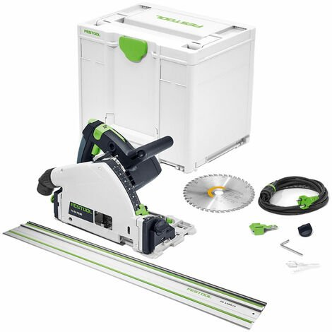 Festool TS 55 FEBQ-Plus 160mm Circular Plunge-Cut Saw 110V 576707 with 1.4m Rail
