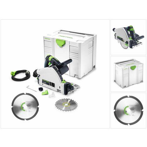 Festool TS 55 RQ-PLUS Scie plongeante 1050 Watt + Systainer + Lame de scie diamantée 160 x 2,2 x 20 DIA4