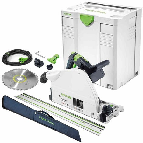 Festool TS75 240V Plunge Saw 561441 with Guide Rail & Rail Bag