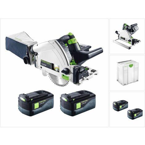 Festool TSC 55 REB-Li Basic Scie plongeante sans fil 18 / 36 V + Systainer + 2x Batteries BP 18 Li 6,2 Ah - sans Chargeur