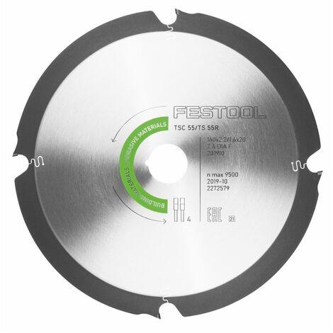 Festool TSC 55 REB-Li Scie plongeante sans fil 18 / 36 V + Systainer + Lame de scie diamantée 160 x 2,2 x 20 DIA4 - sans batterie - sans chargeur