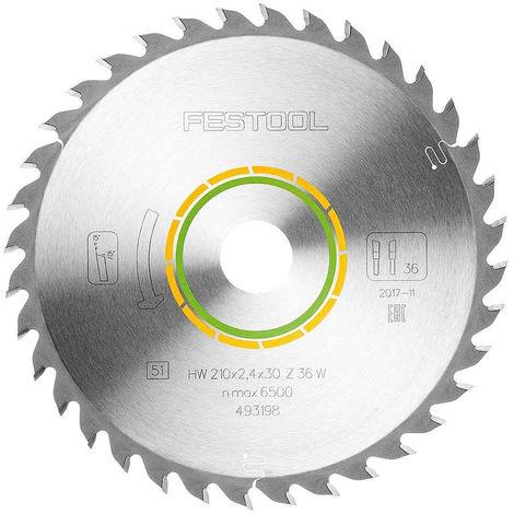 Festool Universal Saw Blade 210mm x 30mm 36T W36 For Plunge Saw 493198