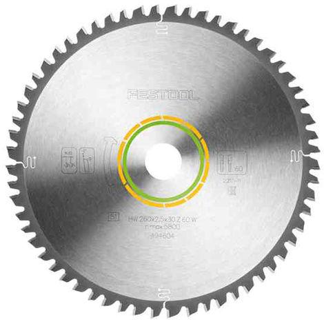 Festool Universal Saw Blade 260x2,5x30 W60 For KS120 Mitre Saw 494604