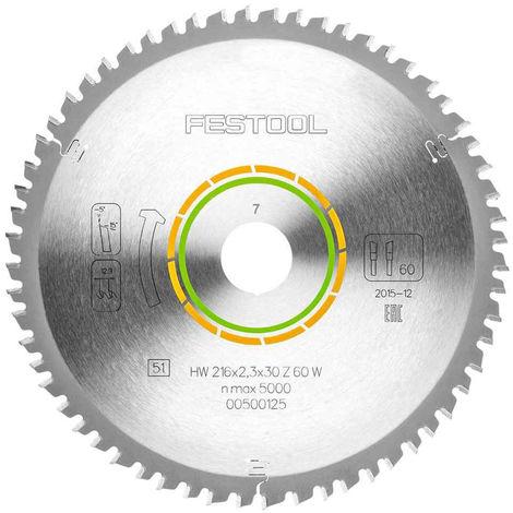"""main image of """"Festool W60 Mitre Saw Blade 216mm x 2.3mm x 30mm x 60T 500125"""""""