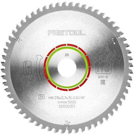 Festool WZ/FA60 Mitre Saw Blade 216mm x 2.3mm x 30mm x 60T 500123