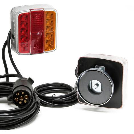 Feu arrière à LED avec aimants éclairage de remorque 7 broches 12V E11