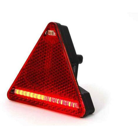 Feu arrière droit triangulaire à LED 5 fonctions pour remorque