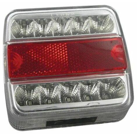 Feu arrière LED carré universel 1W
