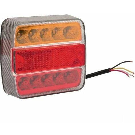 Feu arrière LED carré universel