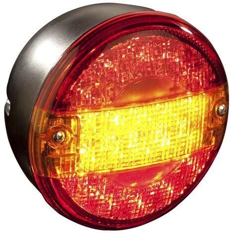 Feu arrière LED rond - 3 fonctions - 1 pièce